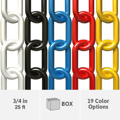 3/4 Inch Plastic Chain - 25 Foot Box