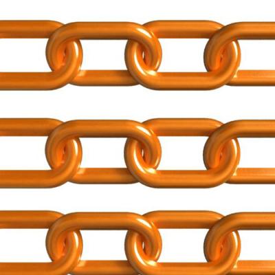 Safety Orange Plastic Chain
