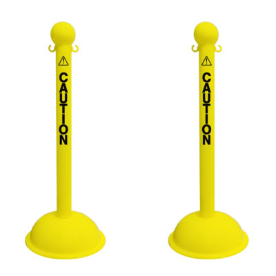 3 Inch Heavy Duty Plastic Stanchions - Yellow
